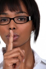 Day of Silence - Woman Shhh'ing