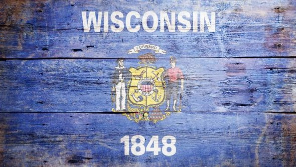 Wisconsin Painted Flag